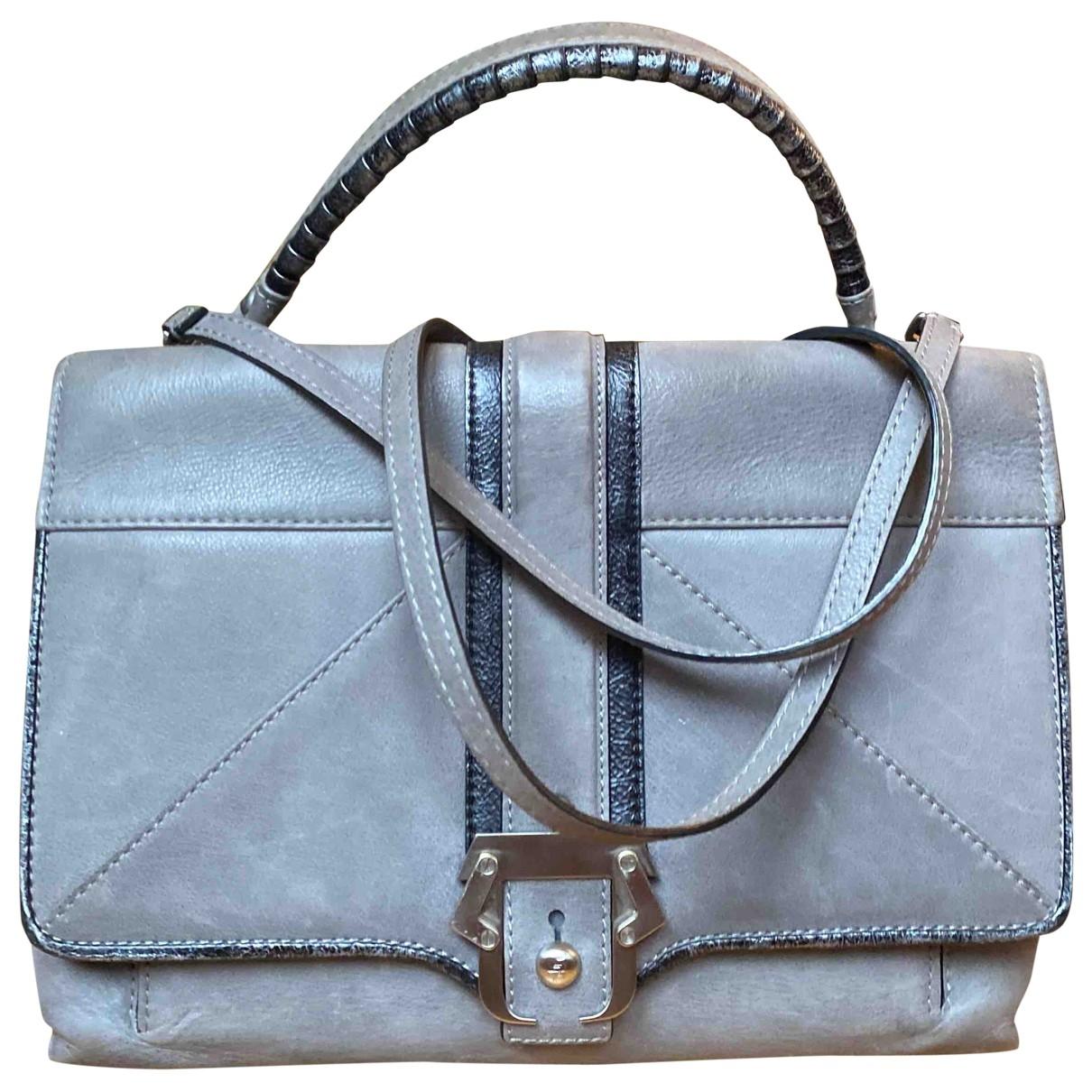 Paula Cademartori \N Handtasche in  Grau Veloursleder