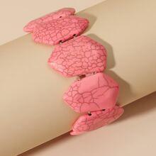 Armband mit Stein und Perlen