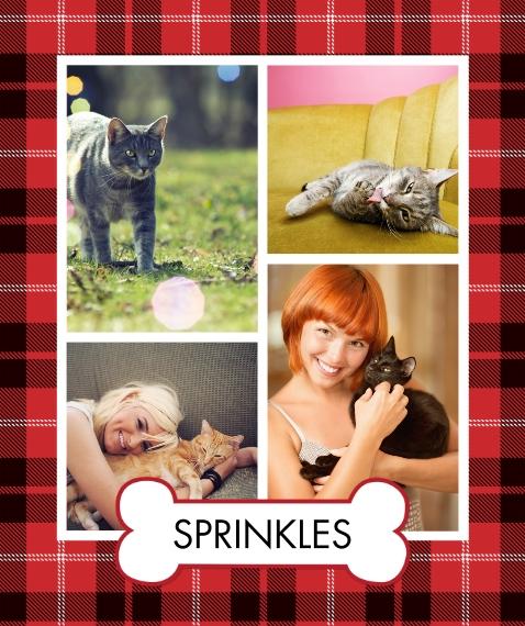 Pets Fleece Blanket, 50x60, Gift -Blanket Pet Bone by Tumbalina