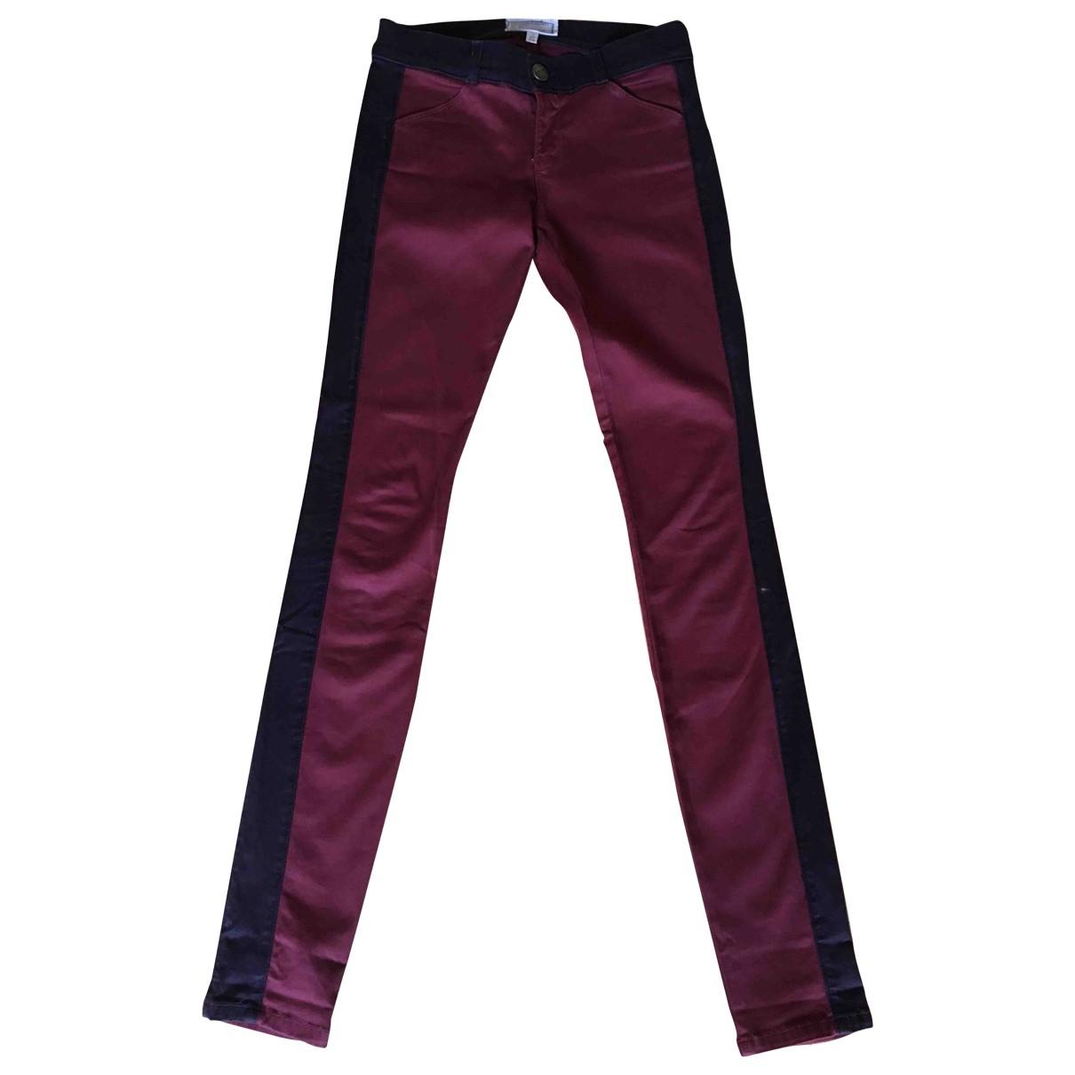Current Elliott \N Burgundy Cotton Jeans for Women 26 US