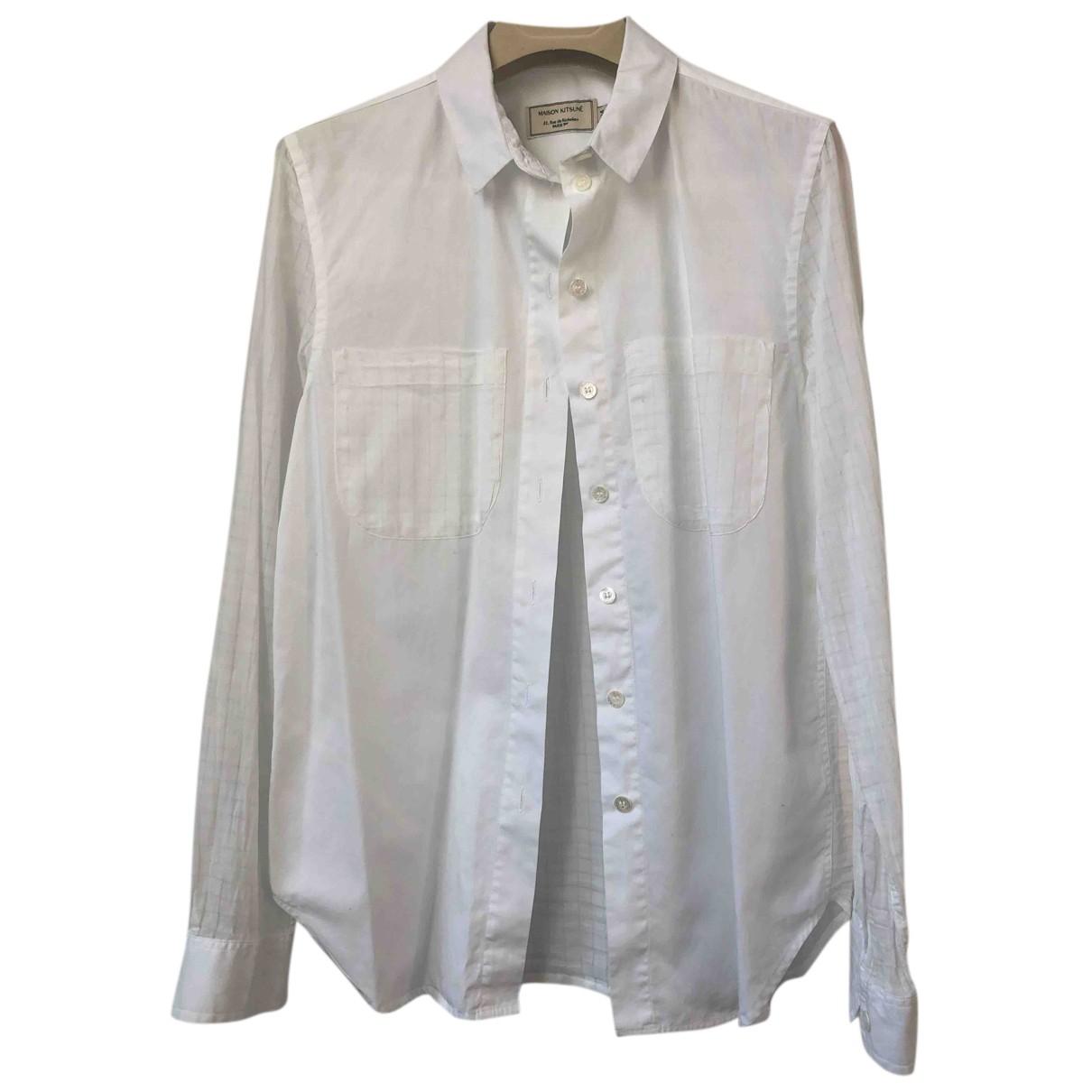 Maison Kitsune - Top   pour femme en coton - blanc