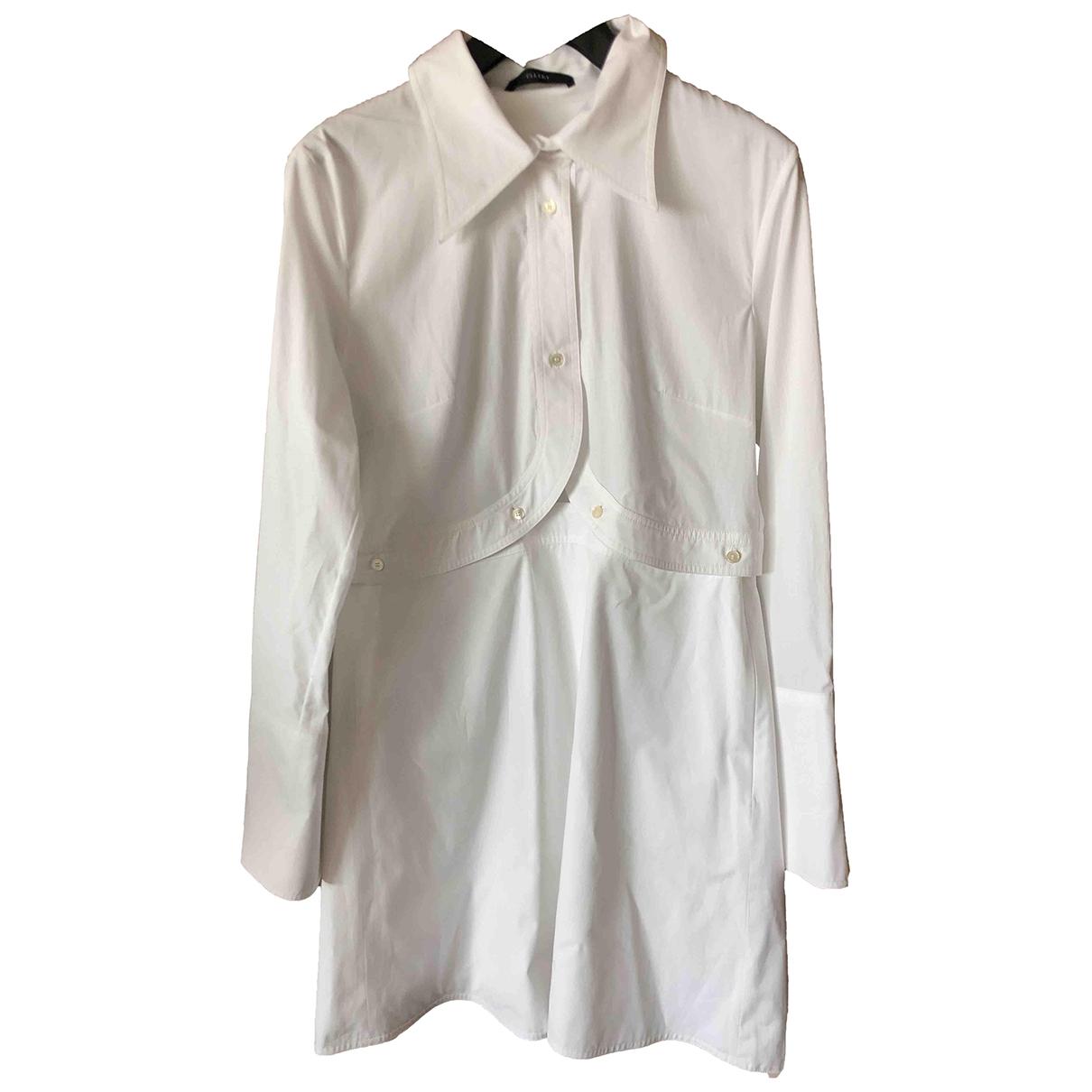 Ellery - Robe   pour femme en coton - blanc