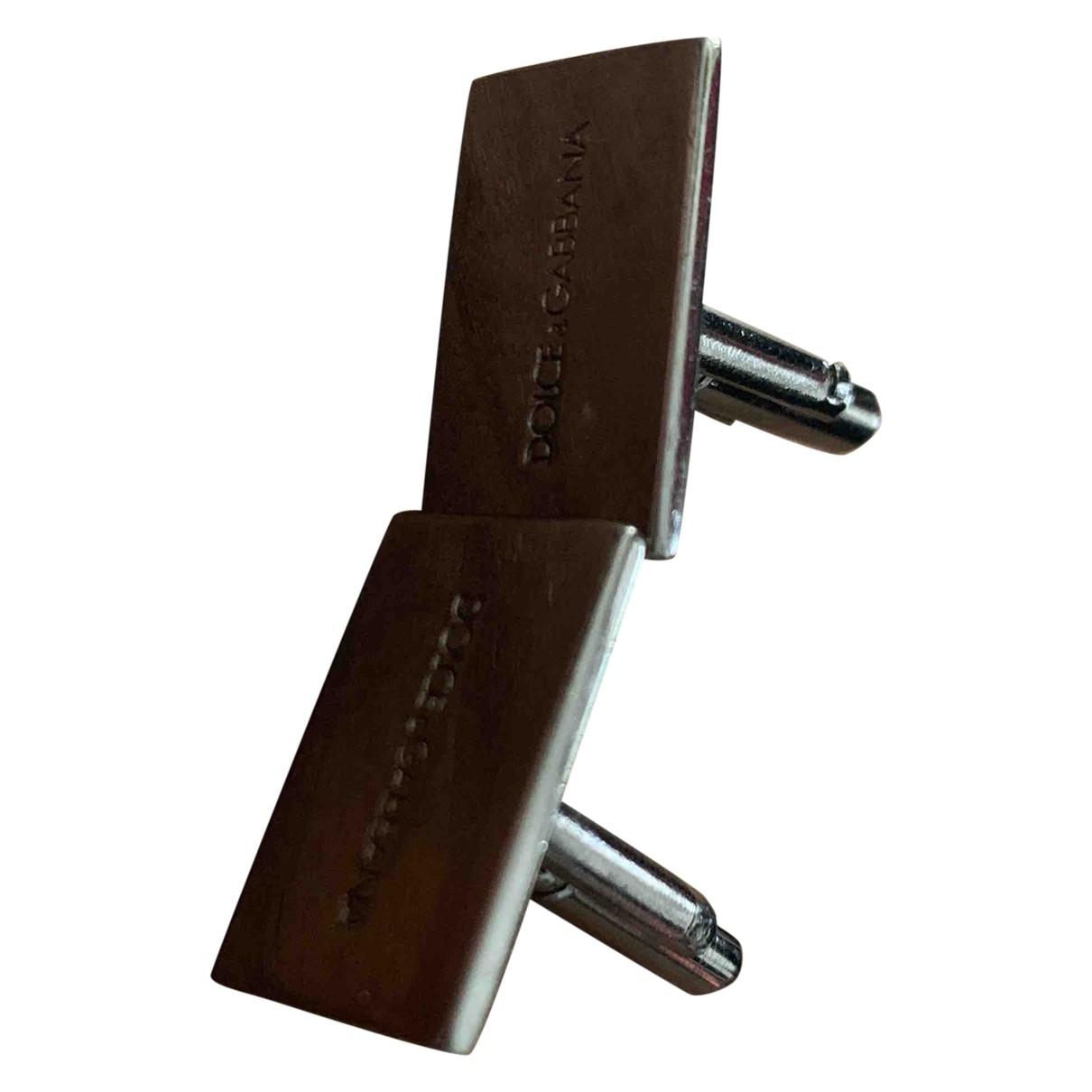 Dolce & Gabbana \N Manschettenknopfe in  Silber Stahl