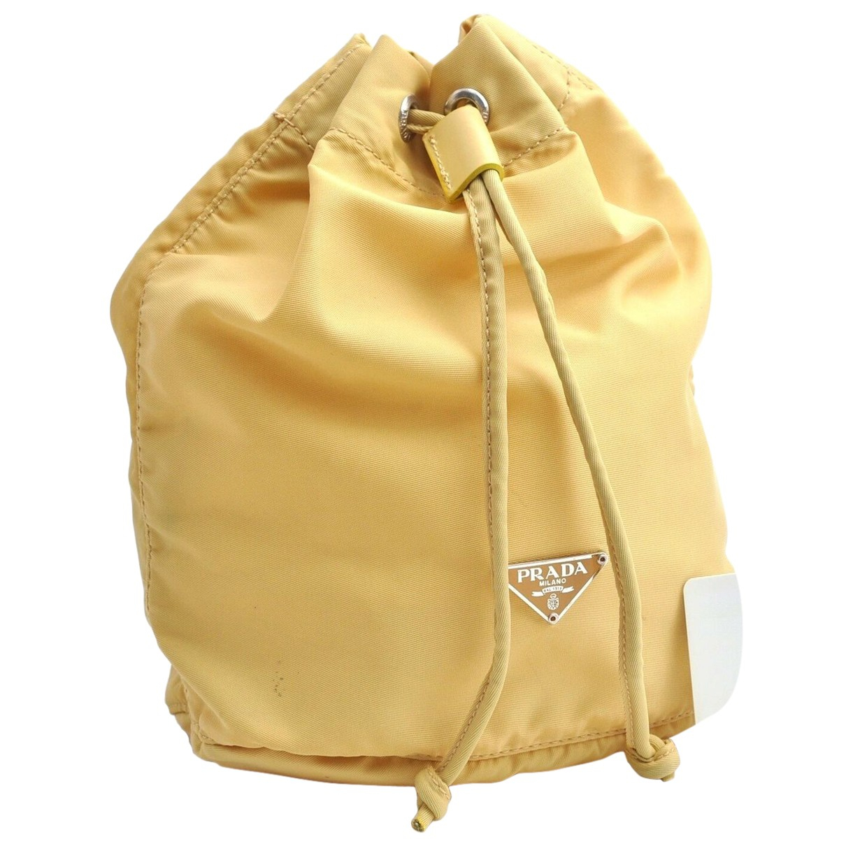 Bolsos clutch en Plastico Amarillo Prada