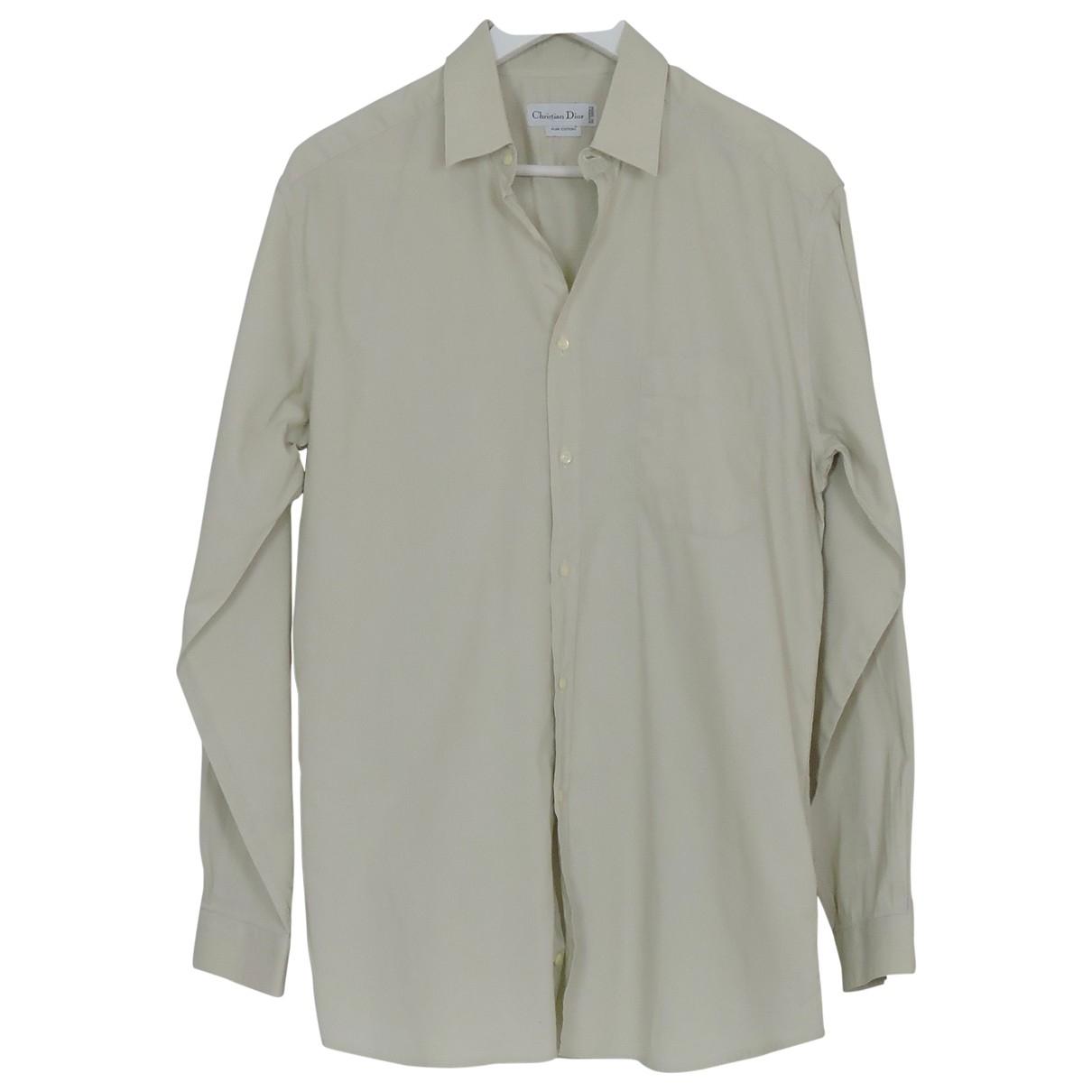 Dior - Chemises   pour homme en coton - beige