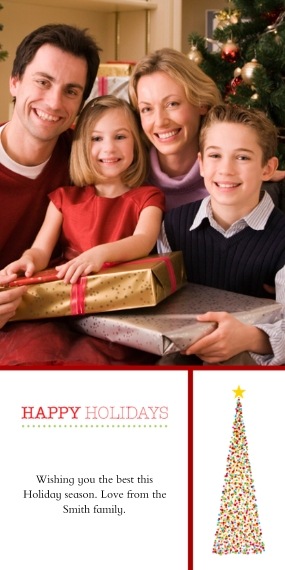Christmas Photo Cards 4x8 Flat Card Set, 85lb, Card & Stationery -Dazzling Tree