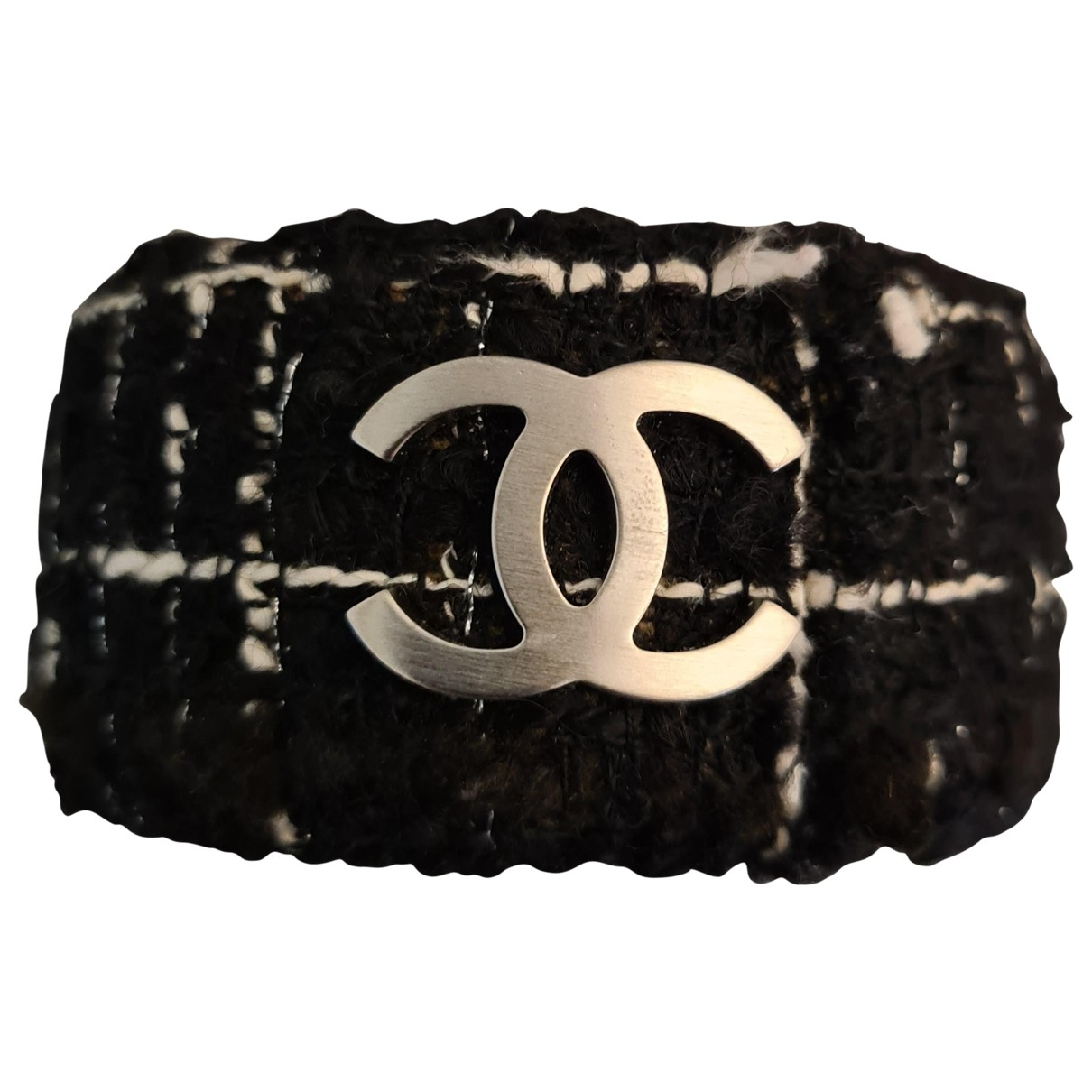 Chanel CC Black Cloth bracelet for Women \N