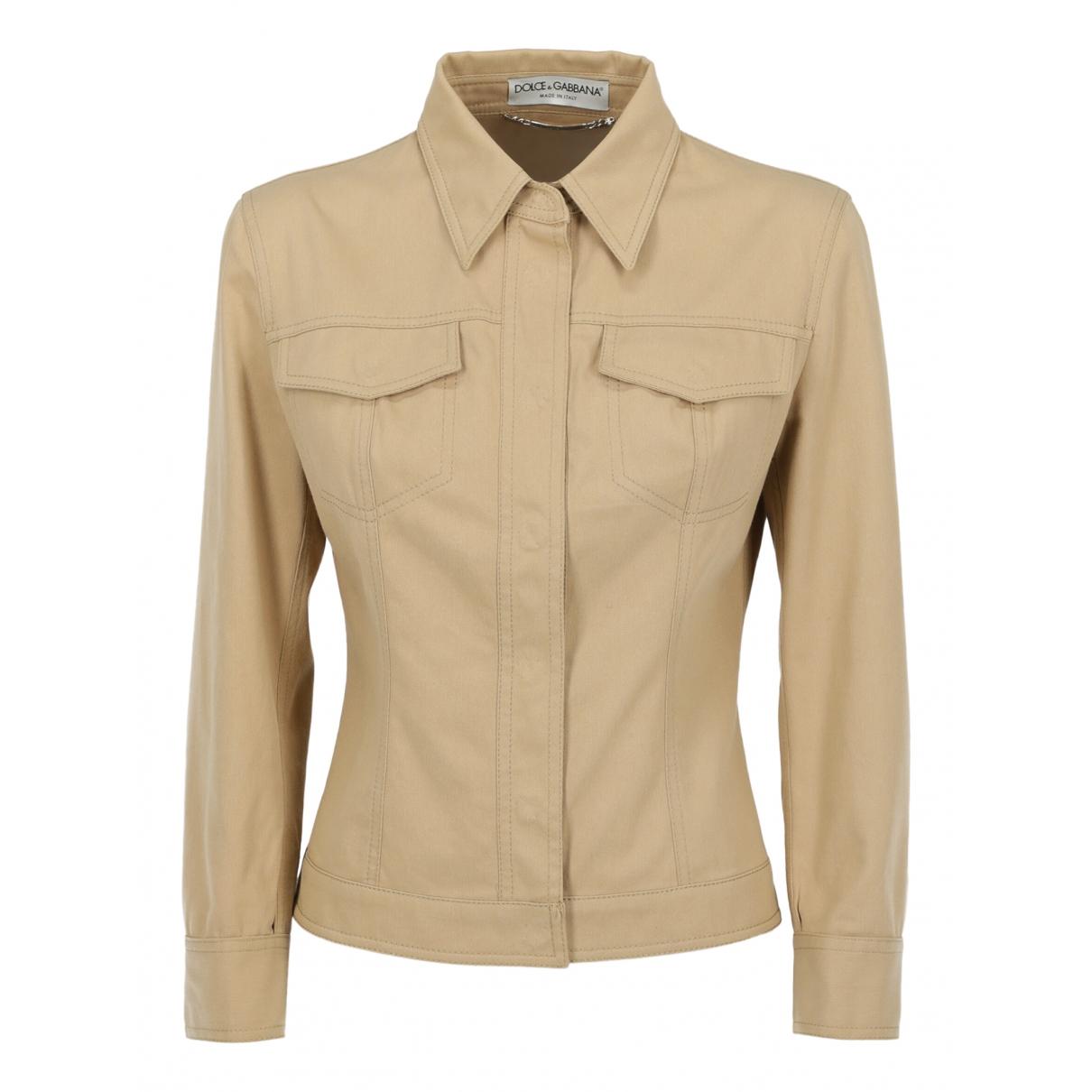 Dolce & Gabbana - Veste   pour femme en coton - beige