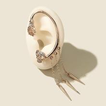Rhinestone Skull Design Earrings