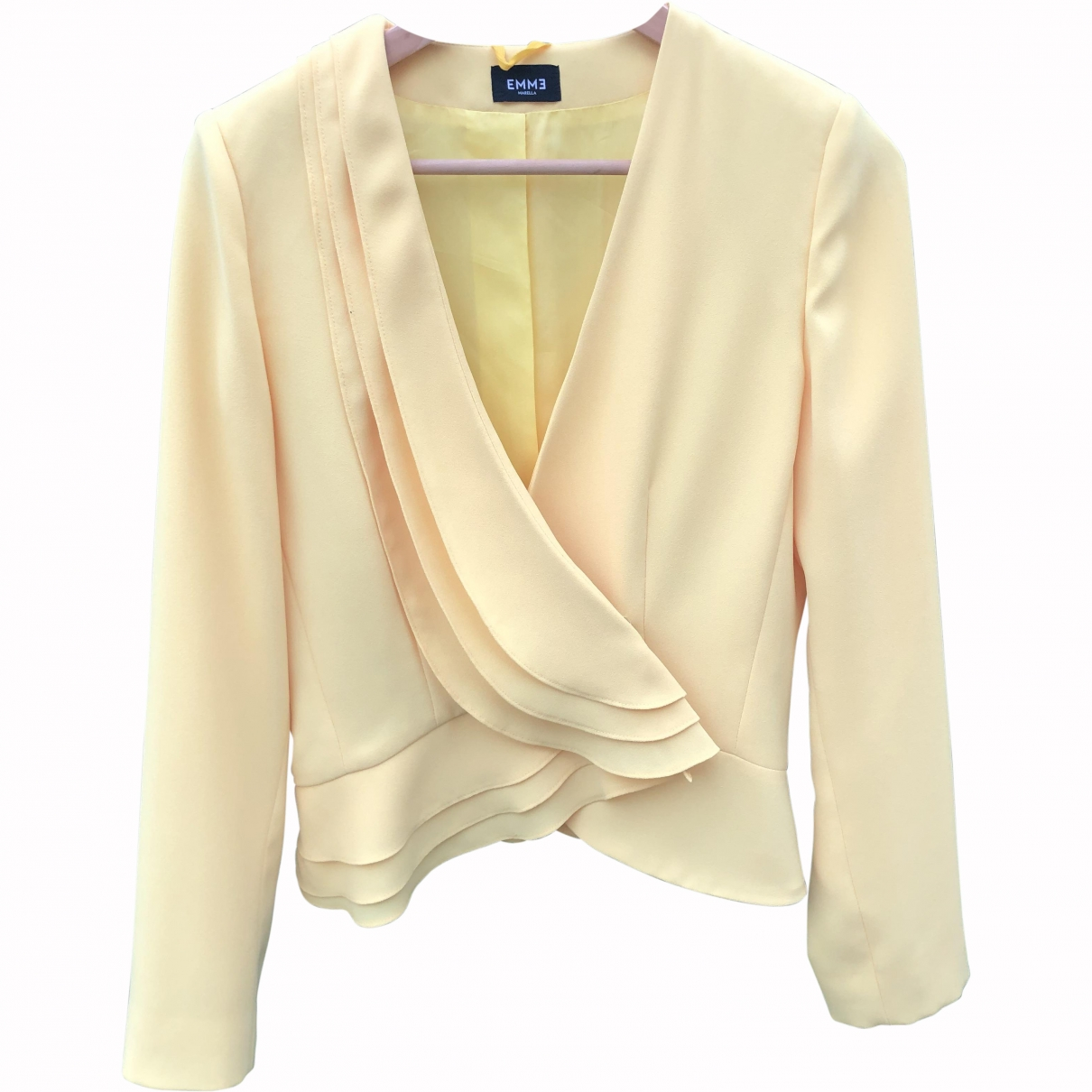 Marella \N Yellow jacket for Women 42 IT