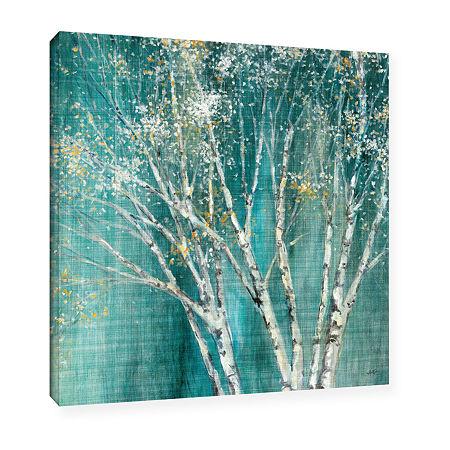 Brushstone Blue Birch Gallery Wrapped Canvas WallArt, One Size , Blue