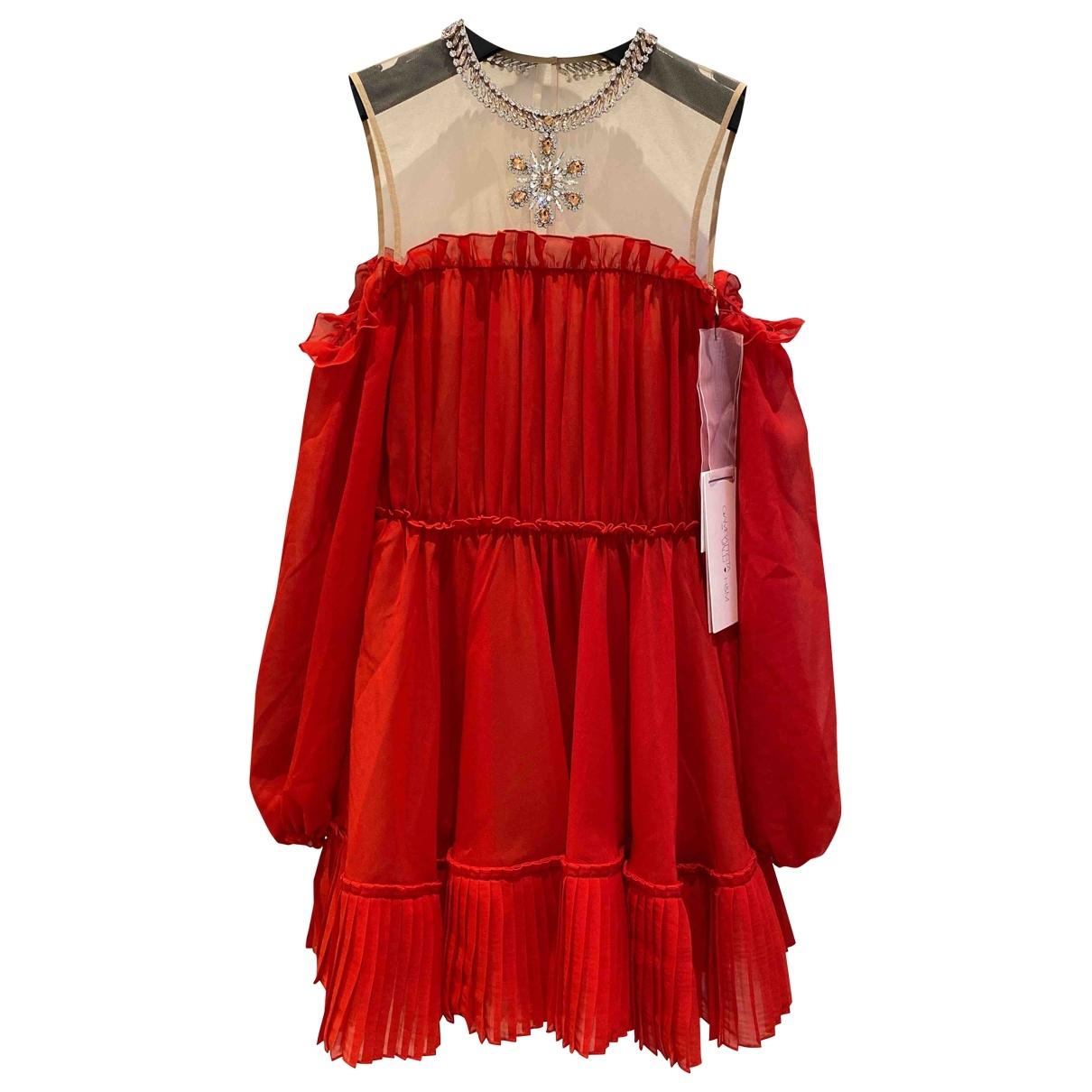 Giambattista Valli X H&m - Robe   pour femme - rouge