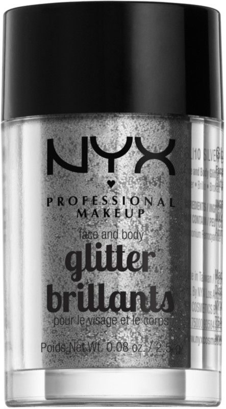 Face and Body Glitter - Silver