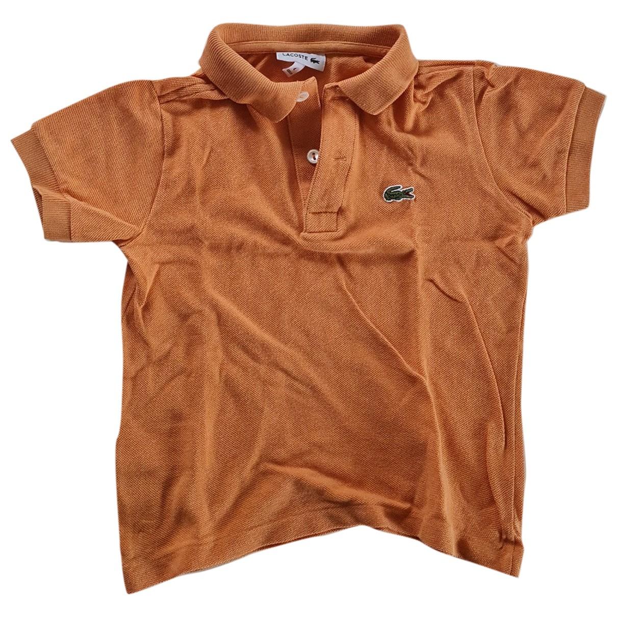 Lacoste - Top   pour enfant en coton - orange
