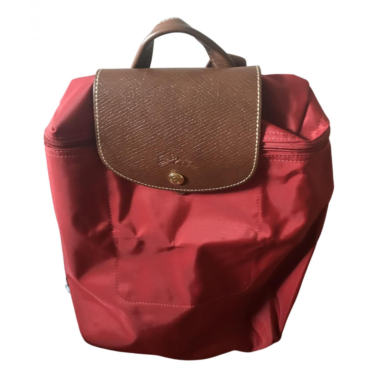 Longchamp Pliage  Rucksaecke in  Rot Synthetik