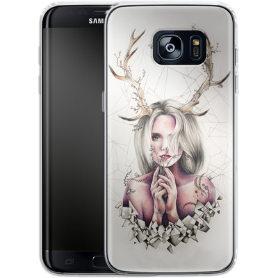 Samsung Galaxy S7 Edge Silikon Handyhuelle - The Antlers von Kate Powell
