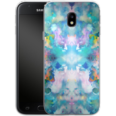 Samsung Galaxy J3 (2017) Silikon Handyhuelle - Paint Splatter von caseable Designs