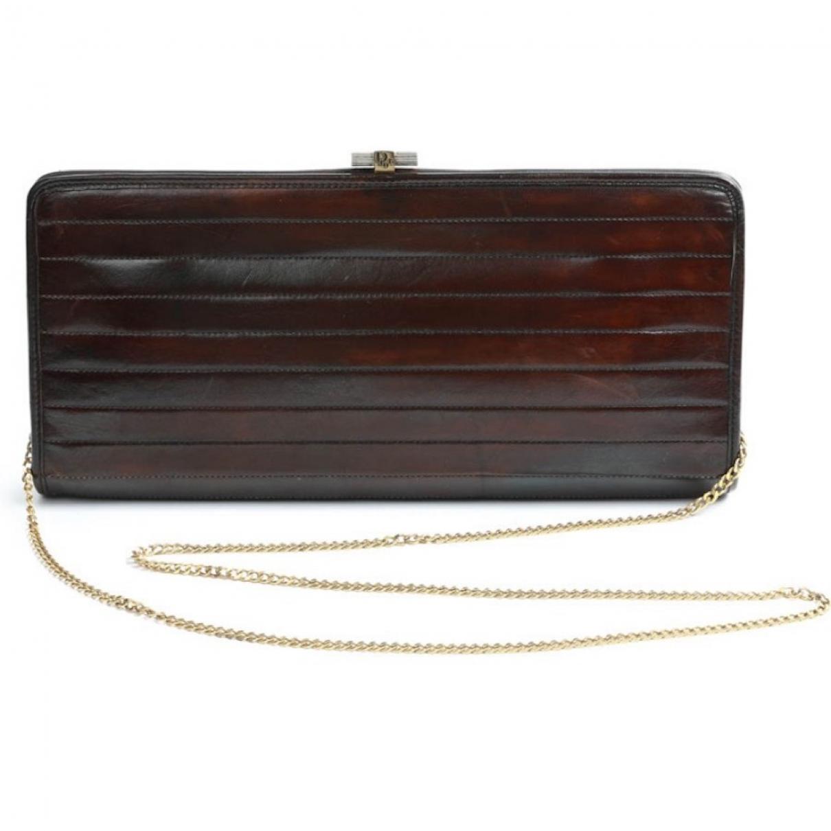 Dior \N Brown Leather Clutch bag for Women \N