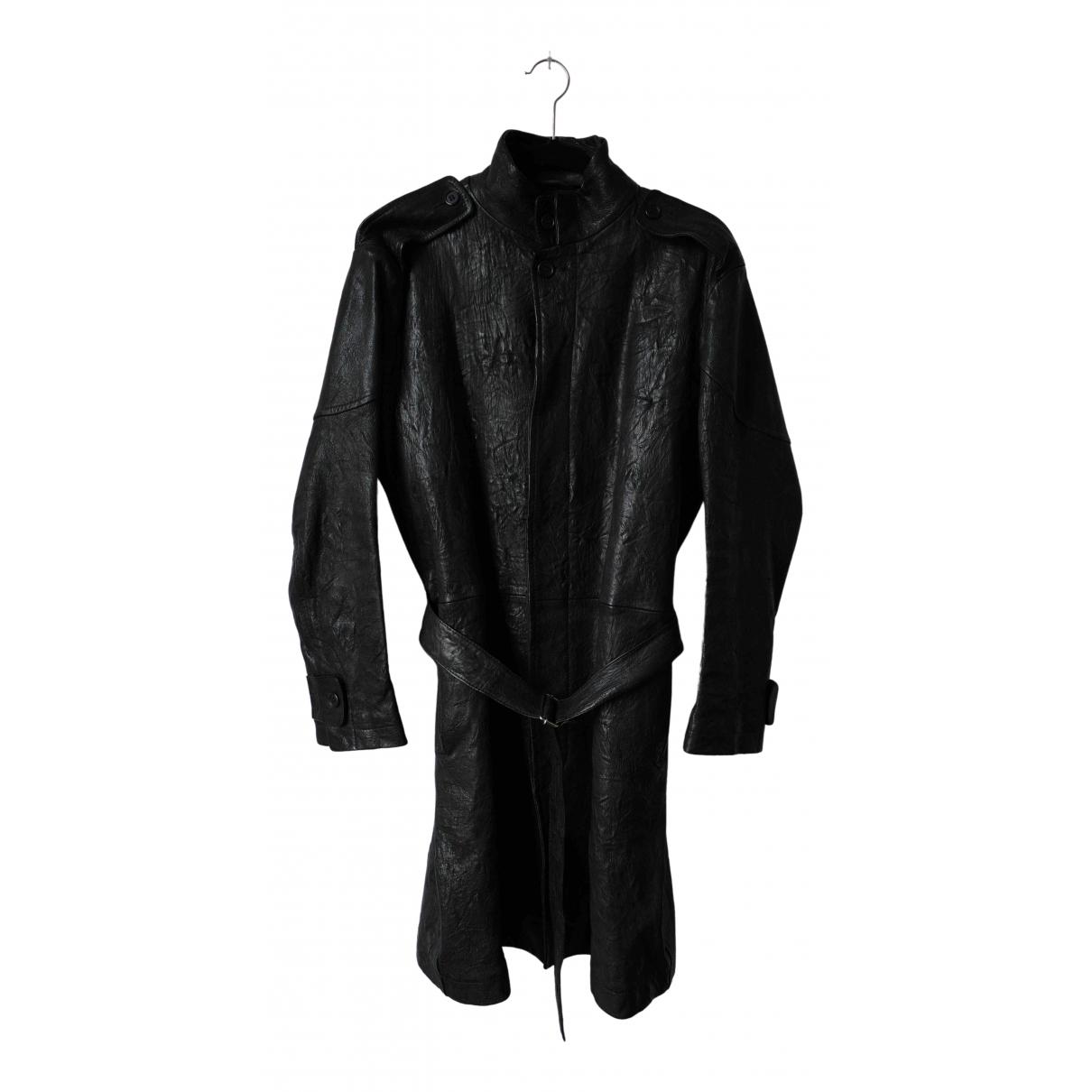 Yohji Yamamoto - Blouson   pour femme en cuir - noir