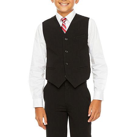 Van Heusen Little & Big Boys Suit Vest, Medium (10-12) , Black