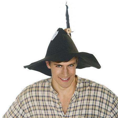 Black Felt Hillbilly Adult Hat, One Size , Multiple Colors