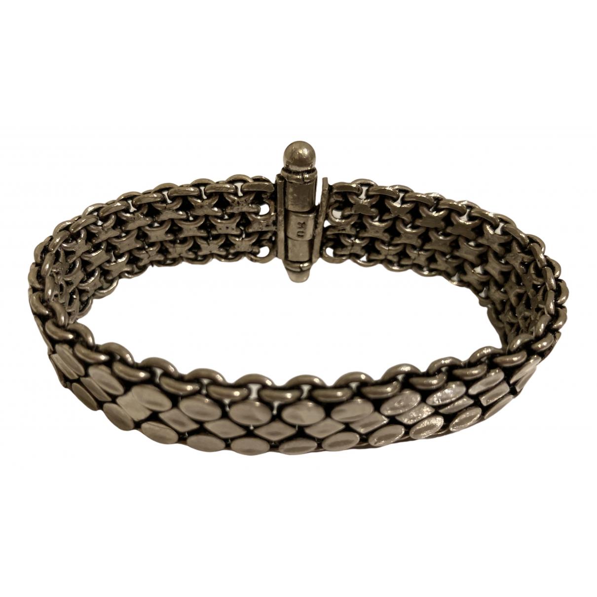 Non Signé / Unsigned Manchette Silver Silver bracelet for Women \N