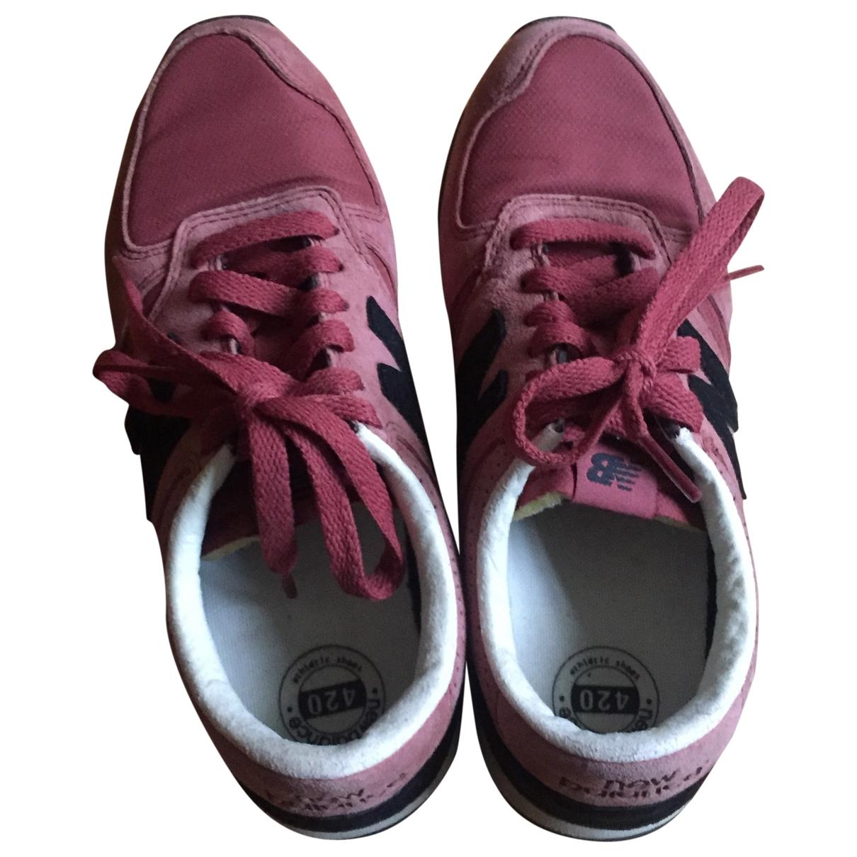 New Balance - Baskets   pour femme en cuir - rose