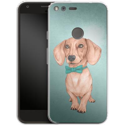 Google Pixel Silikon Handyhuelle - Dachshund the Wiener Dog von Barruf
