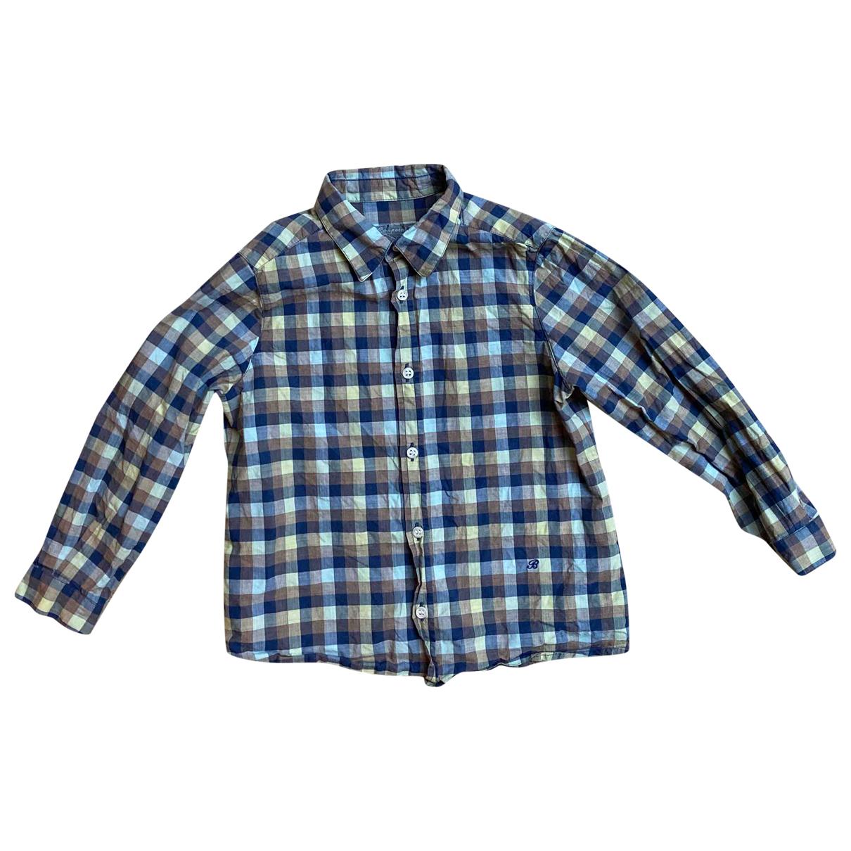 Bonpoint - Top   pour enfant en coton - bleu