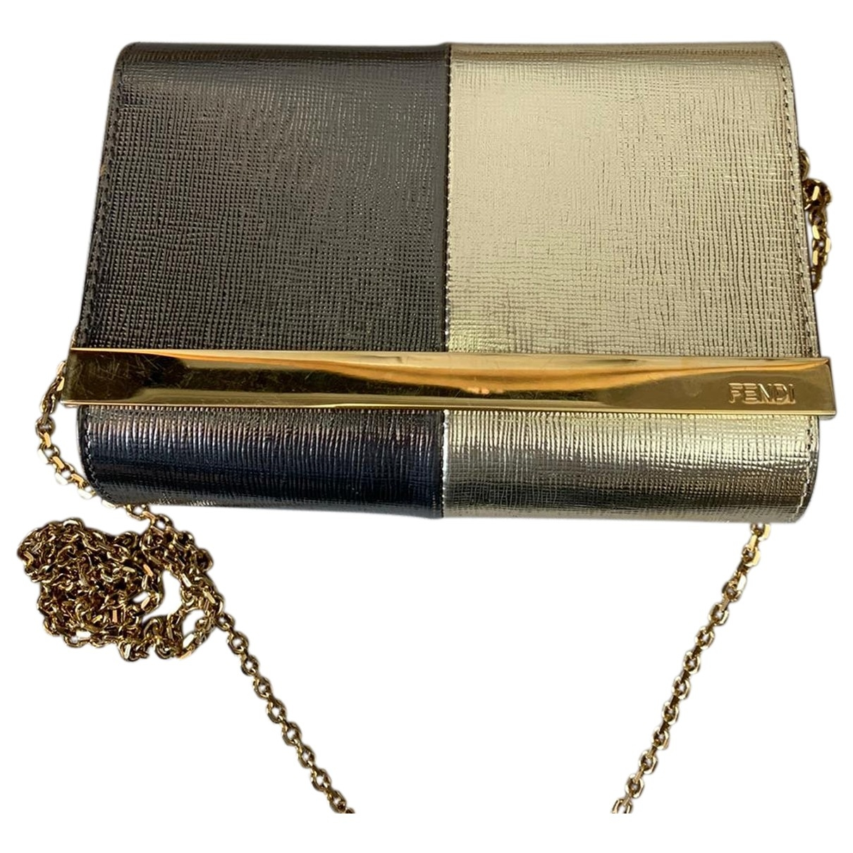 Fendi \N Clutch in  Gold Leder