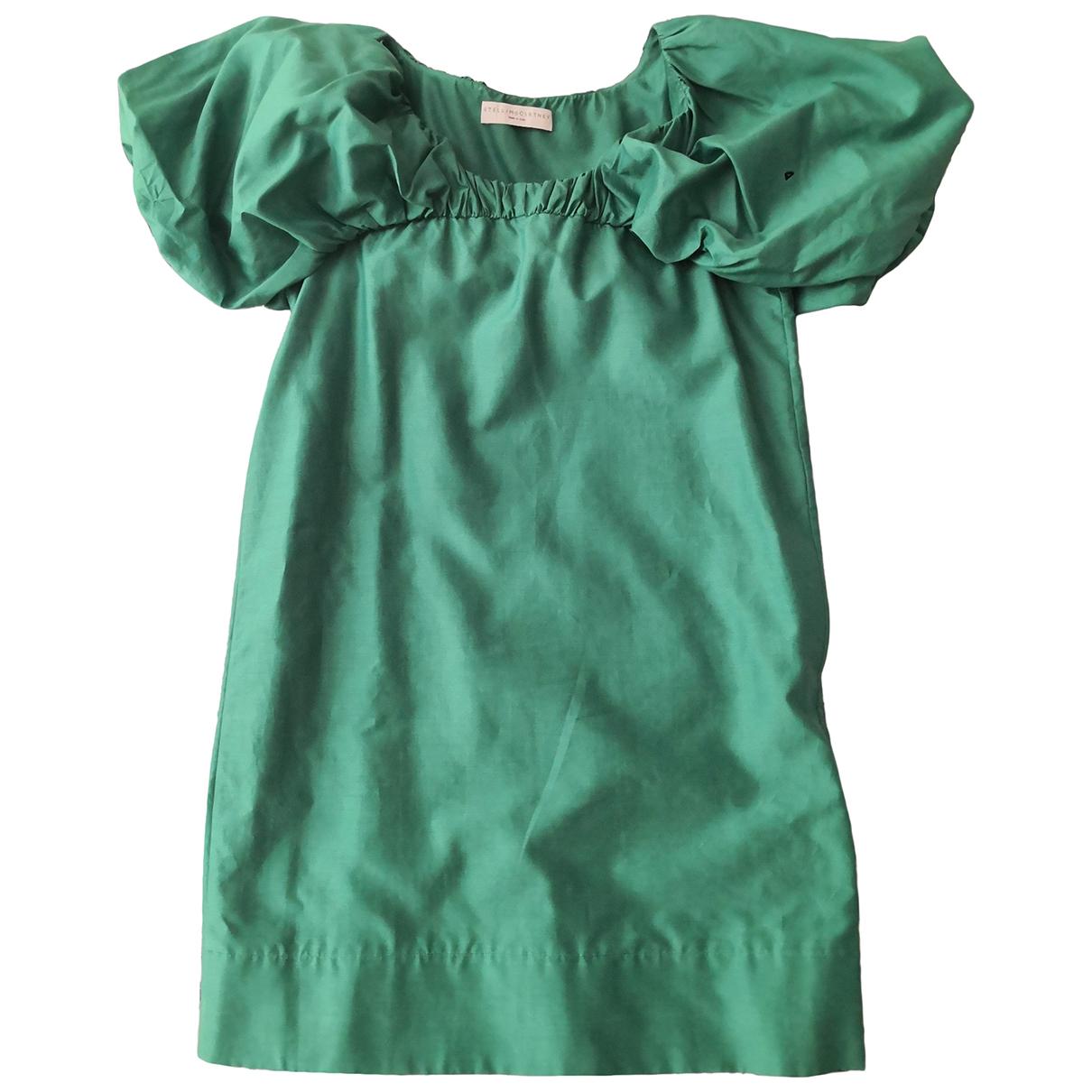 Stella Mccartney \N Kleid in  Gruen Baumwolle