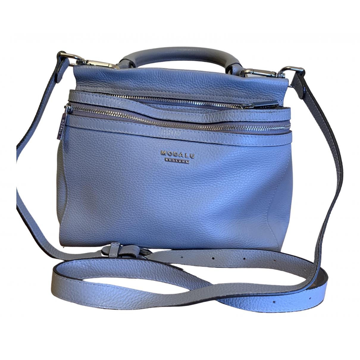 Modalu \N Grey Leather handbag for Women \N