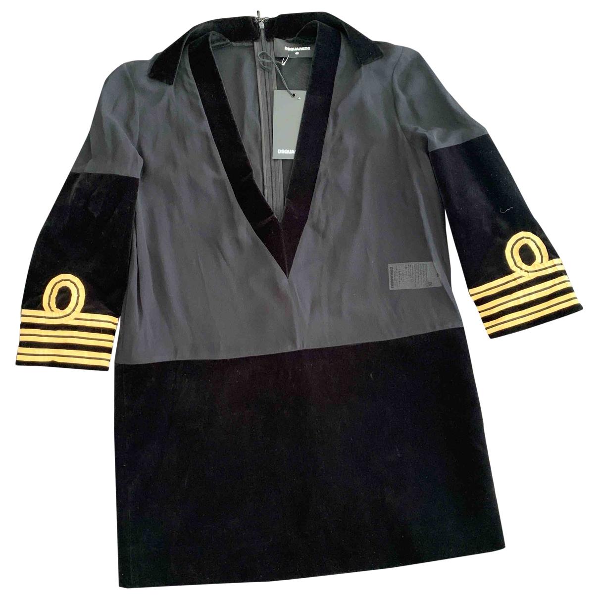 Dsquared2 \N Black Cotton dress for Women 40 IT