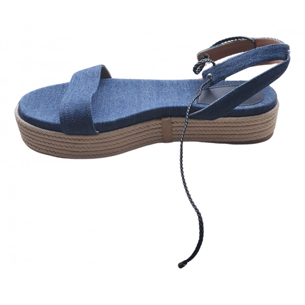 Hugo Boss \N Sandalen in  Blau Leinen