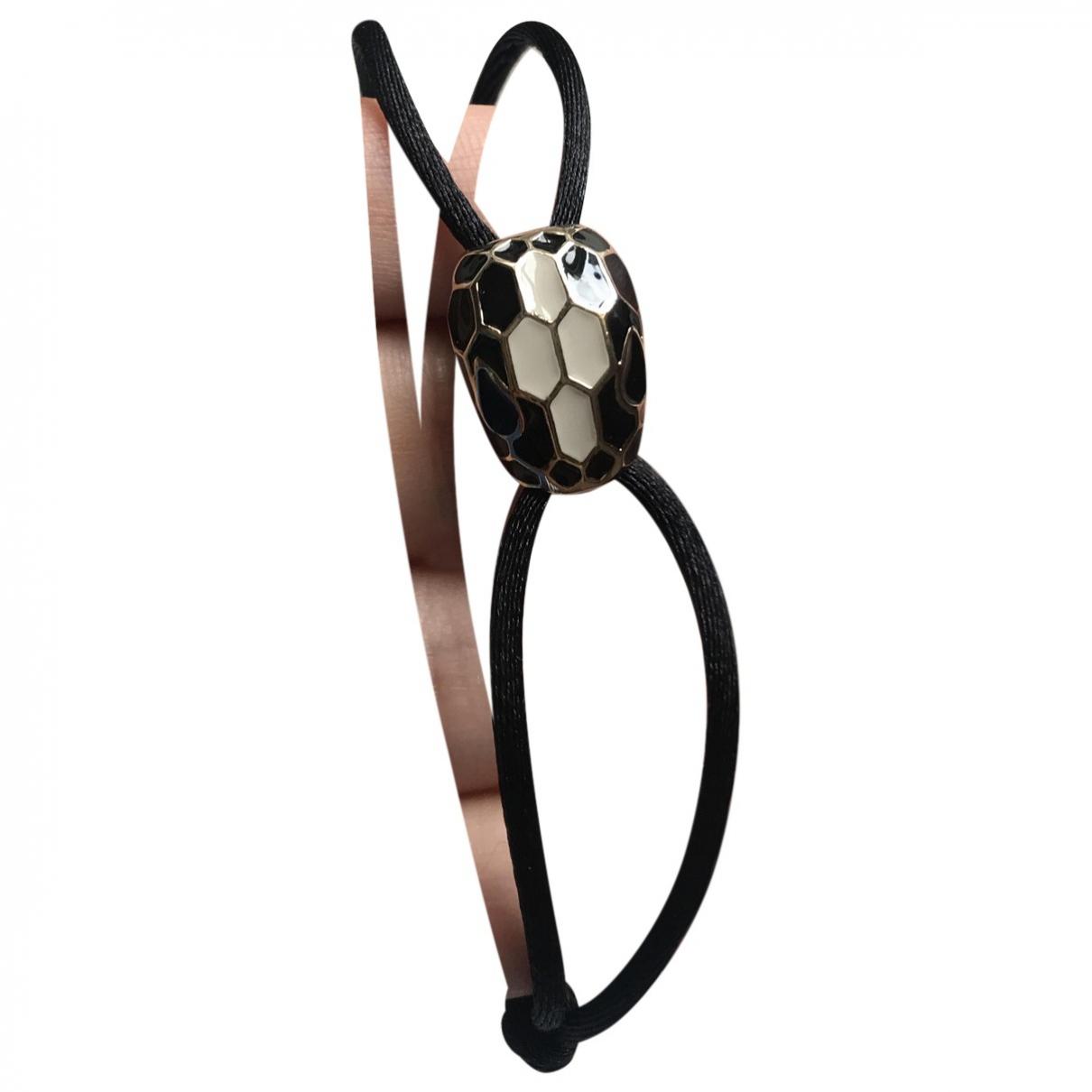 Bvlgari - Bracelet Serpenti pour femme en metal - noir