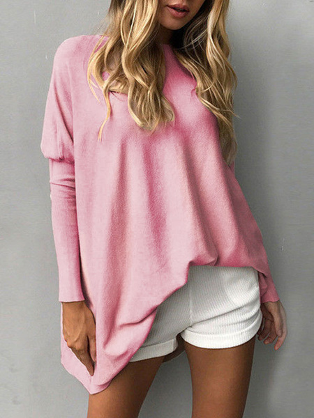 Milanoo Oversized Women Sweater Batwing Long Sleeve Pullover Sweater