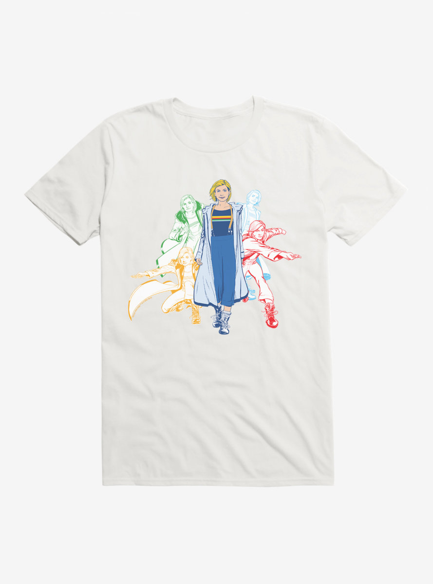 Doctor Who Thirteenth Doctor Jump Into Action Sketches T-Shirt