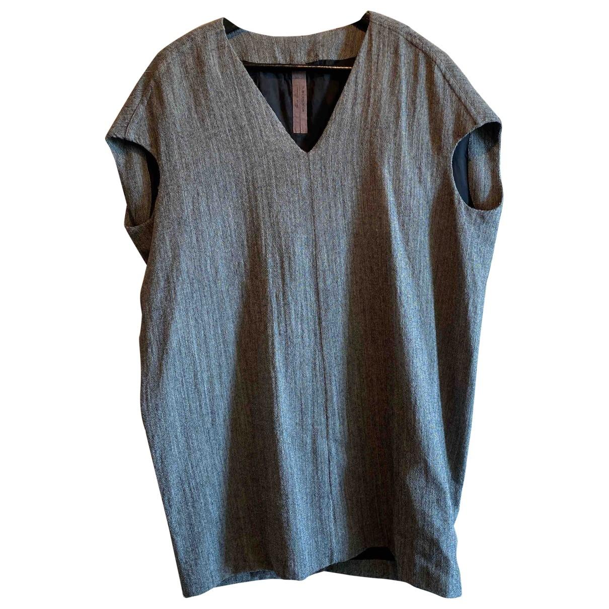 Rick Owens - Robe   pour femme en laine - gris