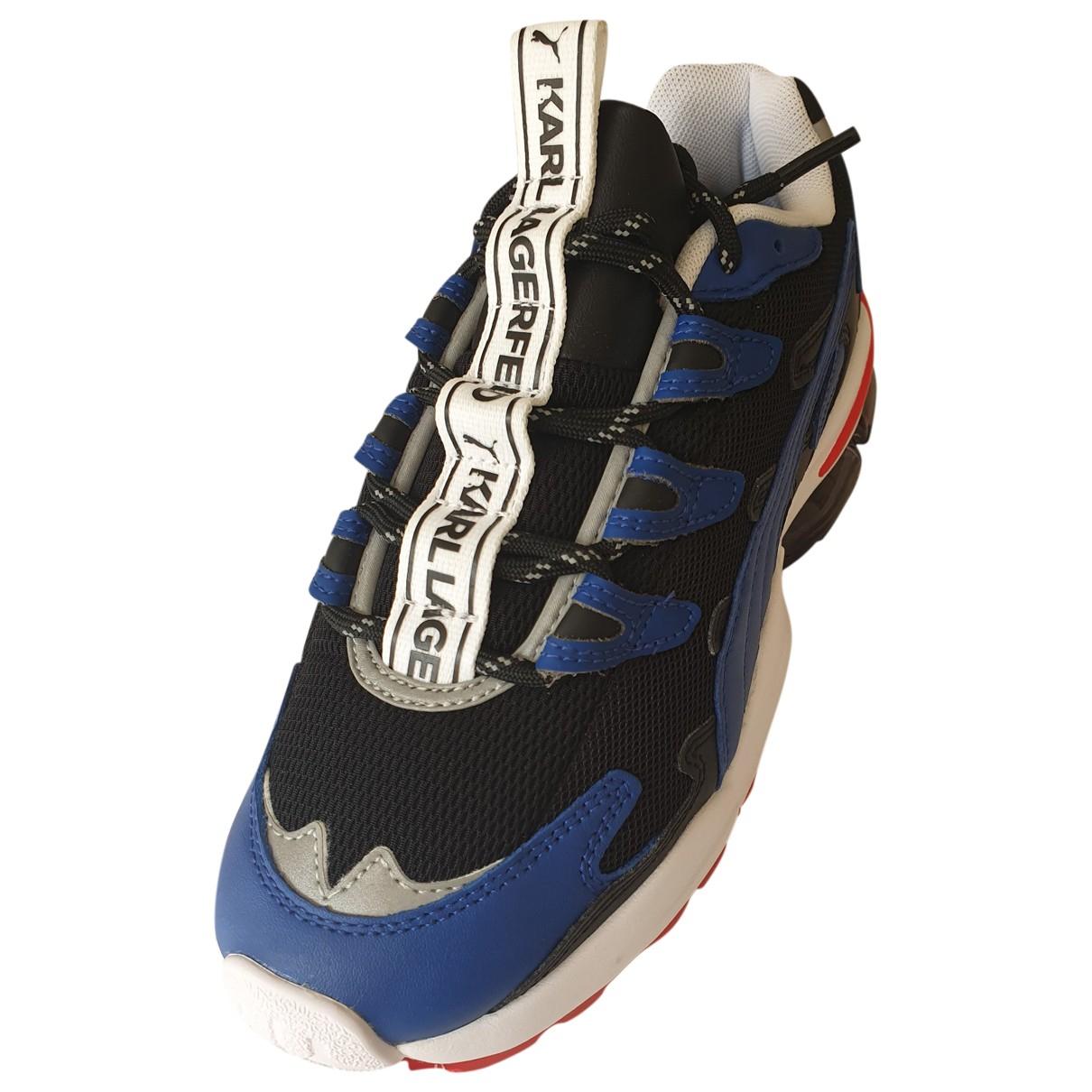 Karl Lagerfeld \N Sneakers in  Blau Leinen