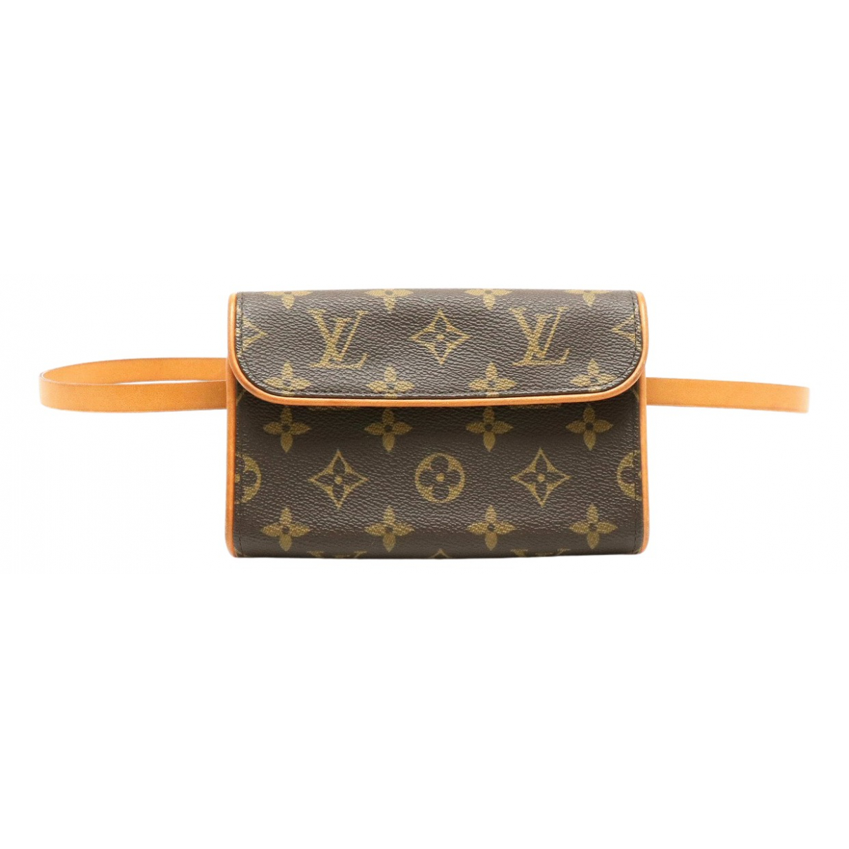 Louis Vuitton Florentine Clutch in  Braun Leinen