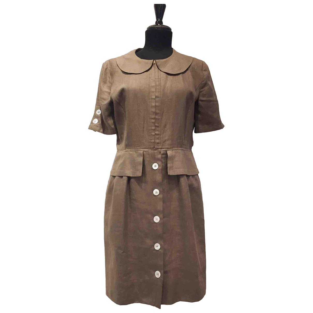 Valentino Garavani - Robe   pour femme en lin - marron