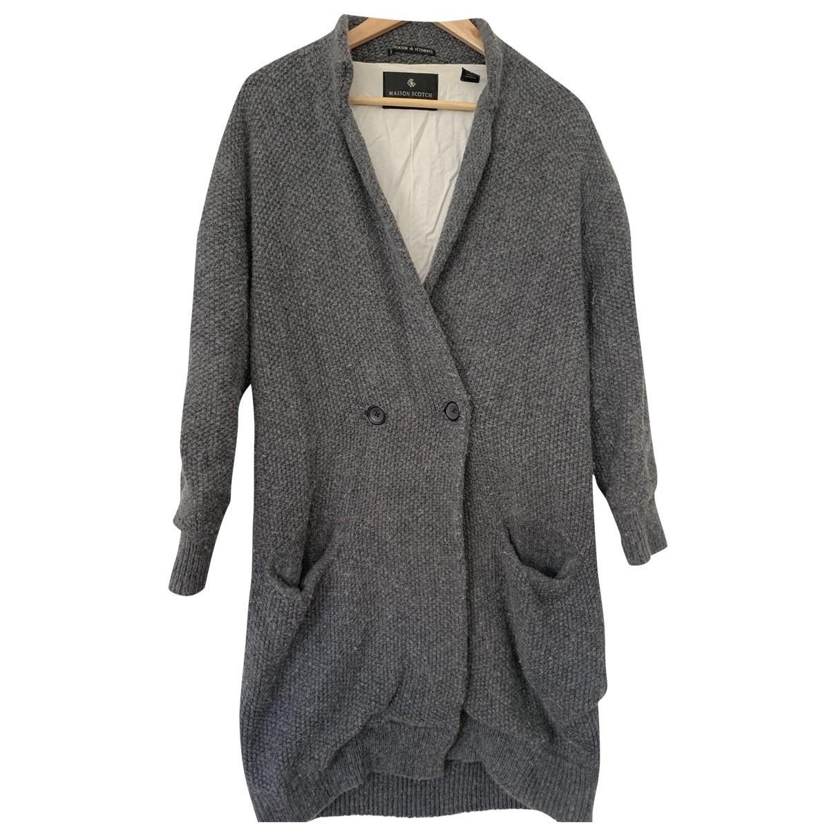 Maison Scotch - Manteau   pour femme en laine - gris