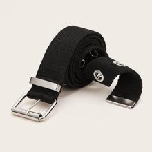 Cinturon con cinta con diseño de ojal