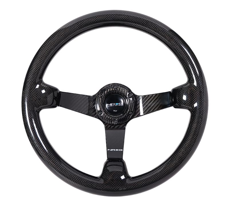 NRG ST-036CF-1 Carbon Fiber Steering Wheel 350mm 3 Inch Deep Dish All Carbon Fiber