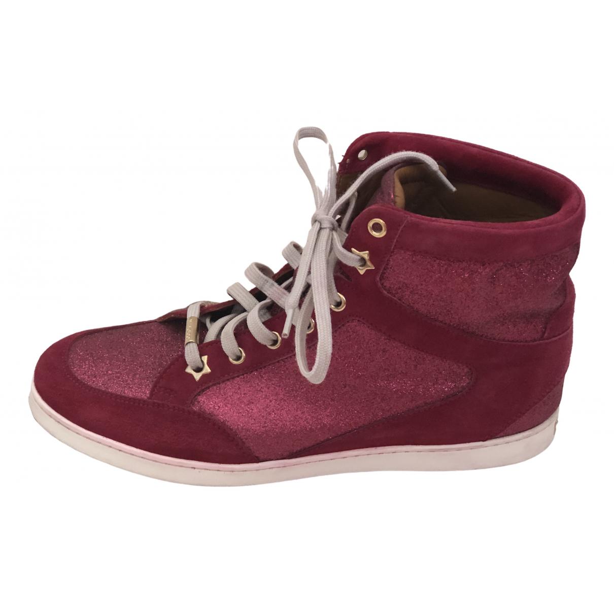 Jimmy Choo \N Sneakers in  Rosa Mit Pailletten