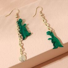 Dinosaur Long Chain Drop Earrings