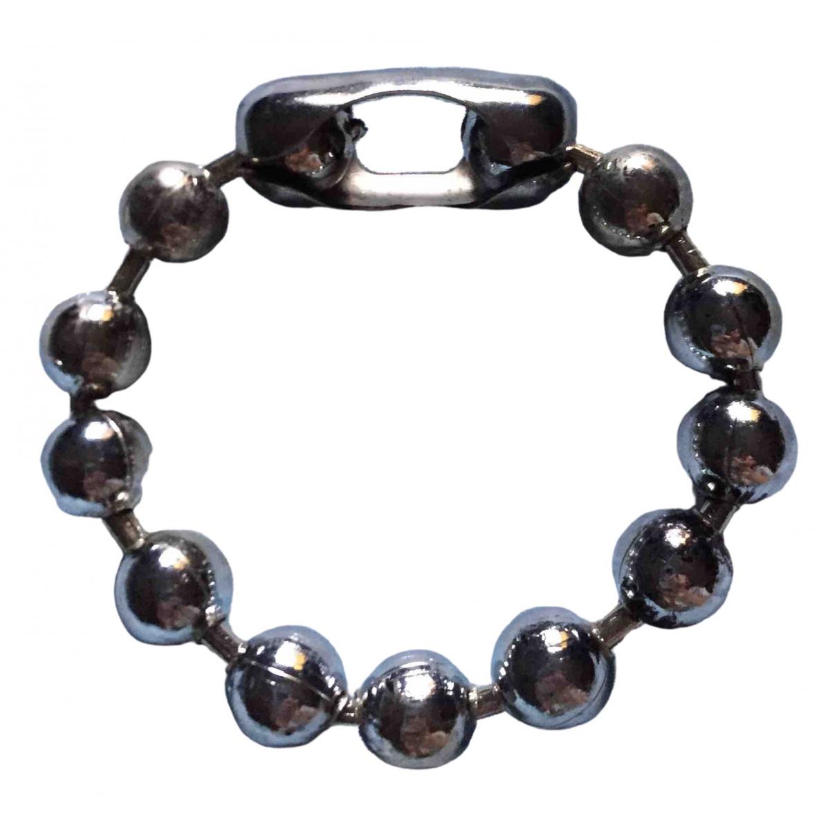 - Bracelet   pour femme en acier - argente