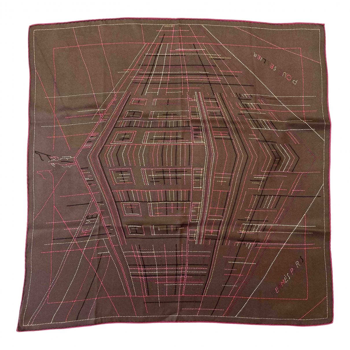 Hermès Carré 70 Brown Silk Silk handkerchief for Women \N