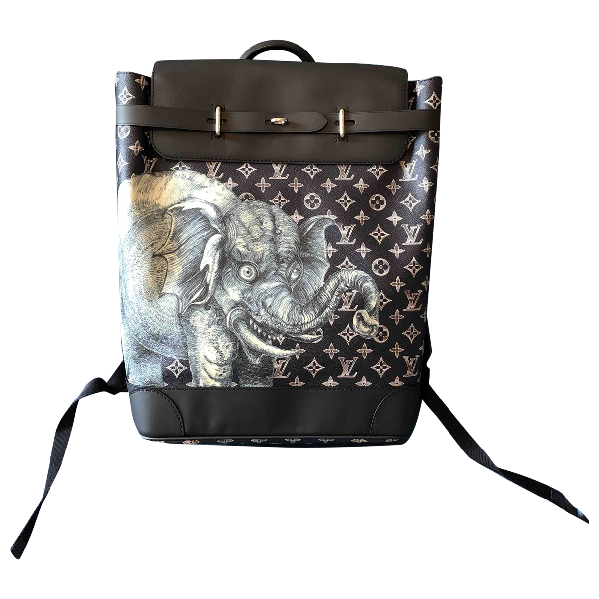 Louis Vuitton Chapman Brothers Lion Messenger Blue Cloth bag for Men \N