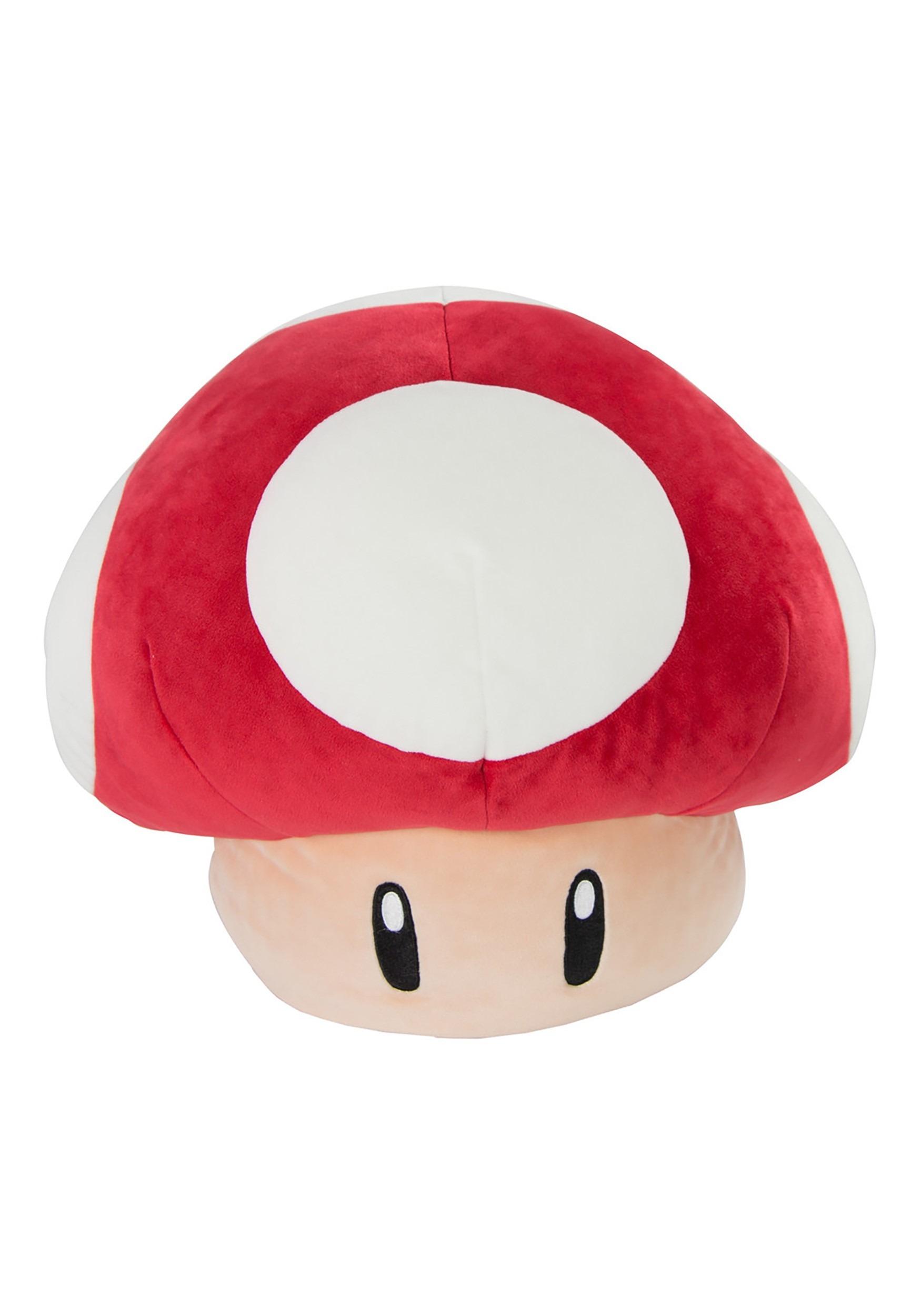 Mario Kart Mega Mushroom Stuffed Plush Figure